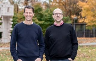 Digital Transformation Lab: Schmitz und Allwein im Park.