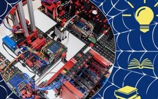 Modell einer Fabrikanlage vernetzt mit Ideen