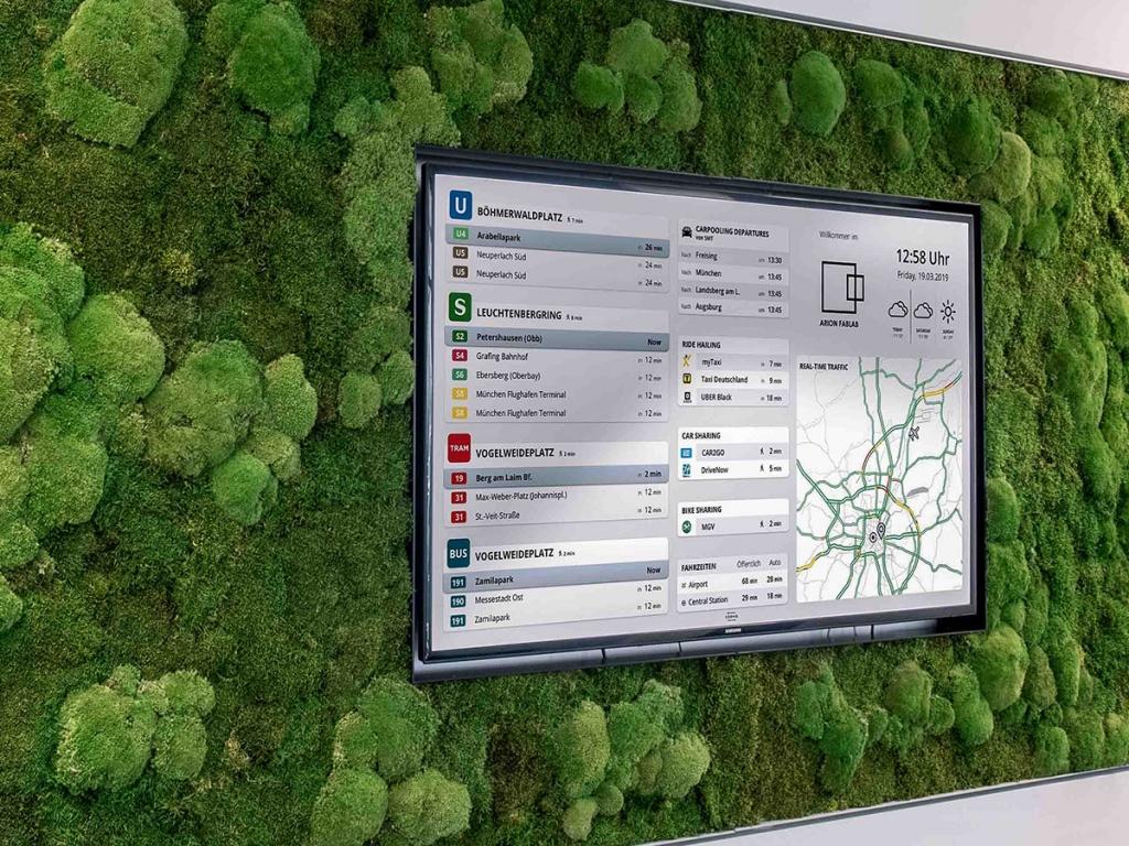 Monitor zeigt Verfügbarkeit von Mobilität in Echtzeit von Veomo.
