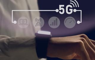 Smartwatch mit 5G Hologramm