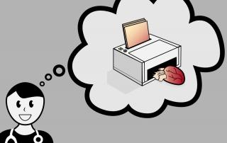 Mediziner stellt sich menschliche Organe aus dem 3-D-Drucker vor.